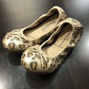 Mama Andersson Gold Leopard Girls Shoes Ballerinas